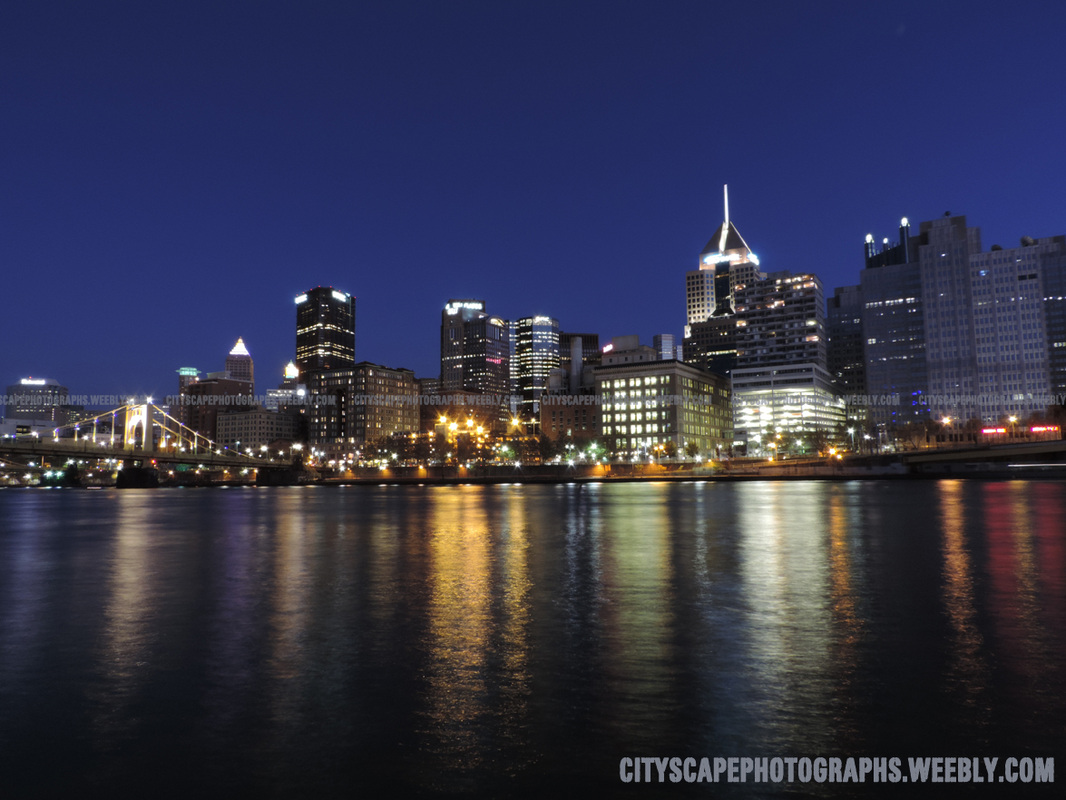 Picture, Pittsburgh, city, skyline, cityscape, downtown, Pennsylvania, buildings, architecture, skyscrapers, photograph, photography, USA, river, Mount washington, Allegheny, Ohio